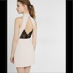 Express Sleeveless Open Back Dress - Light Pink